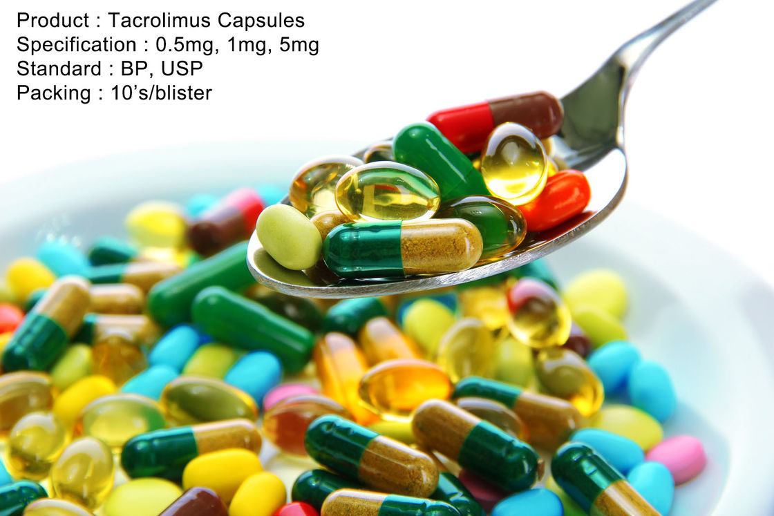 Tacrolimus Capsules 0.5mg, 1mg, 5mg Oral Medications