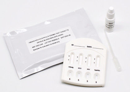 CE Approved Pathological Analysis Equipments Hbsag Hcv Hiv Syphilis Combo Test Kit