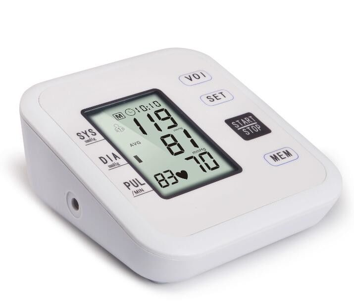 Upper Arm Type Digital Blood Pressure Monitor With Liquid Crystal Display